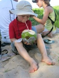 Une bonne eau de coco fraîche !