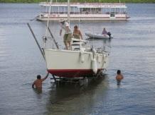 Sortie du voilier