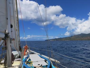 Départ de Martinique