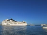 3 paquebots de croisière dans le port de commerce de Pointe à Pitre