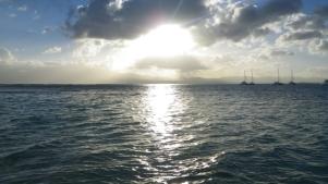 Coucher de soleil sur Basse Terre