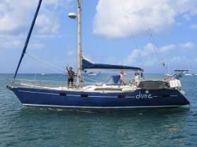 Nos amis de DUNE rencontrés à Belle Île en Mer en septembre 2013, passent le WE avec nous à Marie Galante... Clin d'œil.