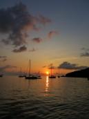 Coucher de soleil à Malendure