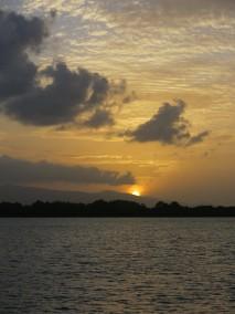 Coucher de soleil sur Basse-Terre