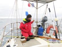 La navigation, c'est beaucoup d'attention pour que le bateau soit toujours bien réglé.